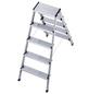 HAILO Stufen-Doppelleiter »StandardLine«, Anzahl Sprossen: 10, Aluminium-Thumbnail