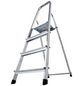 KRAUSE Stufen-Stehleiter »CORDA«, Anzahl Sprossen: 4, Aluminium-Thumbnail