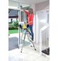KRAUSE Stufen-Stehleiter »MONTO Secury«, 4 Sprossen, Aluminium-Thumbnail