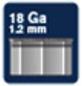 RAPID Tackernägel, 50 mm, Nägeltyp 8, 5000 St., in Schachtelverpackung-Thumbnail