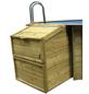 GRE Technikbox, BxHxT: 100 x 131 x 88 cm, Holz, geeignet für: Holzpools-Thumbnail