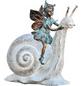 GRANIMEX Teichfigur, Feya auf Schnecke, Polystone, bronzefarben-Thumbnail