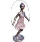 GRANIMEX Teichfigur »Jette mit Springseil«, Polystone, bronzefarben-Thumbnail