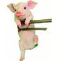 GRANIMEX Teichfigur »Pigi«, Ferkel, Polystone, rosa/weiß-Thumbnail