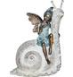 GRANIMEX Teichfigur »Rana auf Schnecke«, Polystone, bronzefarben-Thumbnail