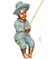 GRANIMEX Teichfigur »Theo«, Angler, Polystone, bronzefarben-Thumbnail