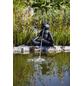 HEISSNER Teichfigur, Yoga-Frosch im Schneidersitz, Höhe: 23  cm, Polyresin, anthrazit-Thumbnail