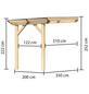 KARIBU Terrassendach »Modell 3«, H (max) x B x T: 222  x 200 x 350 cm-Thumbnail