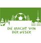 MR. GARDENER Terrassenplatte »Fußball Bremen«, aus Beton, Kanten: gefast-Thumbnail