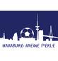 MR. GARDENER Terrassenplatte »Fußball Hamburg«, aus Beton, Kanten: gefast-Thumbnail