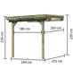 KARIBU Terrassenüberdachung, Breite: 244 cm, Dach: Polyvinylchlorid (PVC), natur-Thumbnail