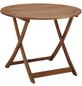 Tisch »Borkum«, ØxH: 100 x 74 cm, Tischplatte: Eukalyptusholz-Thumbnail