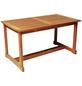 Tisch, BxHxL: 80 x 74 x 140 cm, Tischplatte: Eukalyptusholz-Thumbnail