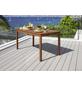 Tisch, BxHxL: 80 x 76 x 150 cm, Tischplatte: Eukalyptusholz-Thumbnail