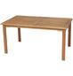 Tisch, mit Eukalyptusholz-Tischplatte, BxTxH: 90 x 150 x 74,5 cm-Thumbnail