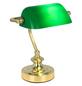 Tischleuchte »ANTIQUE« gruen/messingfarben mit 25 W, H: 24 cm, E14 ohne Leuchtmittel-Thumbnail