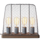 BRILLIANT Tischleuchte betonfarben mit 40 W, 4-flammig, H: 34 cm, E27 ohne Leuchtmittel-Thumbnail