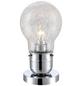 GLOBO LIGHTING Tischleuchte chromfarben/klar mit 8 W, H: 28 cm, E27 inkl. Leuchtmittel in Warmweiß-Thumbnail