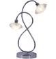 NÄVE Tischleuchte »Flower« chrom mit 56 W, 2-flammig, H: 38 cm, G9 inkl. Leuchtmittel in Warmweiß-Thumbnail