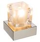 Tischleuchte »NUBUK« eiche_dunkel/weiß_hochglanz mit 3 W, H: 10,5 cm, G9 inkl. Leuchtmittel-Thumbnail