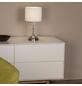 BRILLIANT Tischleuchte »Rom« mit 60 W, 1-flammig, Weiß/Chrom, H: 38,00 cm-Thumbnail