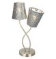 GLOBO LIGHTING Tischleuchte »TAROK« nickelfarben mit 25 W, 2-flammig, H: 45 cm, E14 ohne Leuchtmittel-Thumbnail