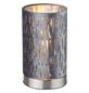 GLOBO LIGHTING Tischleuchte »TAROK« nickelfarben mit 40 W, H: 20,5 cm, E14 ohne Leuchtmittel-Thumbnail