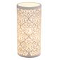GLOBO LIGHTING Tischleuchte Weiß mit 25 W, H: 24 cm, E14 ohne Leuchtmittel-Thumbnail