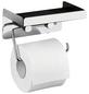 WENKO Toilettenpapierhalter »2 in 1«, BxHxT: 16 x 12,5 x 11,5 cm, edelstahlfarben-Thumbnail