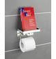 WENKO Toilettenpapierhalter »2 in 1«, H x B x T: 12,5 x 16 x 11,5 cm, edelstahlfarben-Thumbnail