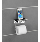 WENKO Toilettenpapierhalter, H x B x T: 11,5 x 14 x 7 cm, edelstahlfarben-Thumbnail