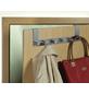 WENKO Türgarderobe, Silber, 6 Haken, Silber, Edelstahl, Edelstahl, 110 x 390 x 55 mm-Thumbnail