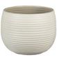 SCHEURICH Übertopf »LINARA«, ØxH: 16 x 12,4 cm, creme, Keramik-Thumbnail