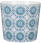 SCHEURICH Übertopf »MOSAIC«, ØxH: 12,8 x 11,8 cm, weiß/blau/türkis, Keramik-Thumbnail