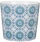 SCHEURICH Übertopf »MOSAIC«, ØxH: 15,1 x 13,5 cm, weiß/blau/türkis, Keramik-Thumbnail