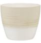 SCHEURICH Übertopf, ØxH: 11 x 9,5 cm, beige/creme, Keramik-Thumbnail
