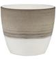 SCHEURICH Übertopf, ØxH: 16 x 15,2 cm, taupe/creme/beige, Keramik-Thumbnail