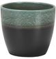 SCHEURICH Übertopf »SHADES«, ØxH: 19 x 17 cm, grün/anthrazit, Keramik-Thumbnail