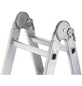 HAILO Vielzweckleiter »ProfiStep«, 12 Sprossen, Aluminium-Thumbnail