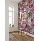 Vliestapete »Ariel Pink Flower«, bunt, glatt-Thumbnail