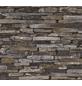 Vliestapete »Best of Wood´n Stone«, braun, strukturiert, für Feuchträume geeignet-Thumbnail