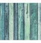 RENOVO Vliestapete »Holzmotiv«, türkis/blau, strukturiert, für Feuchträume geeignet-Thumbnail