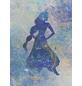 Vliestapete »Jasmin Silhouette«, bunt, glatt-Thumbnail
