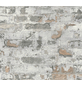 Vliestapete »Metropolitan Stories«, grau/hellrot, strukturiert, für Feuchträume geeignet-Thumbnail