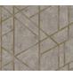 Vliestapete »Metropolitan Stories«, taupe/goldfarben, glatt, für Feuchträume geeignet-Thumbnail