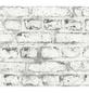 RENOVO Vliestapete »Stein«, weiss, min: 5.3m²-Thumbnail