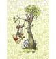 Vliestapete »Winnie Pooh in the wood«, bunt, glatt-Thumbnail