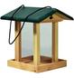 DOBAR Vogelfutterhaus, für Vögel, Kiefernholz/Kunststoff, natur/grün-Thumbnail