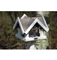DOBAR Vogelfutterhaus, für Vögel, Kiefernholz, weiß/braun-Thumbnail