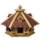 DOBAR Vogelfutterhaus, für Wildvögel, Kiefernholz/Bitumen, rot/braun/dunkelbraun-Thumbnail